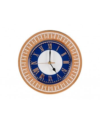 "LOMONOSOV IMPERIAL PORCELAIN DECORATIVE WALL CLOCK MOSCOW STARS 27 cm/10.6"""