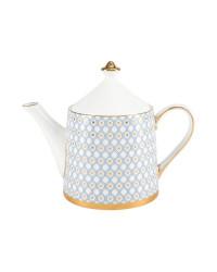 LOMONOSOV IMPERIAL BONE CHINA PORCELAIN TEA SET SERVICE AZURE 10 items