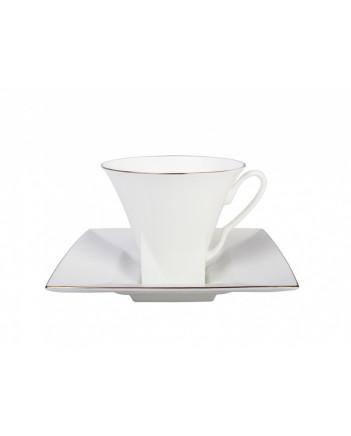 LOMONOSOV IMPERIAL BONE CHINA PORCELAIN TEA CUP PETROPOL GOLDEN EDGE 220 ml/7.4 fl.oz