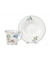 LOMONOSOV IMPERIAL BONE CHINA PORCELAIN TEA SET SERVICE JUNE YULIA 14 items