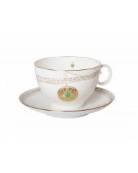 LOMONOSOV IMPERIAL BONE CHINA PORCELAIN TEA CUP APPLE GOLDEN MEDALLION 160 Ml/5.4 Fl.Oz