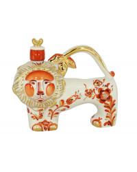 LOMONOSOV IMPERIAL PORCELAIN DECANTER RED LION 380 ML/12.9 OZ