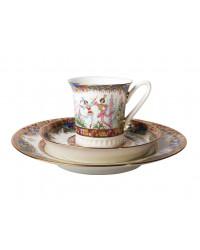 LOMONOSOV IMPERIAL BONE CHINA PORCELAIN COFFEE SET SERVICE RUSSIAN BALLET 22 items