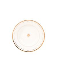 """LOMONOSOV IMPERIAL PORCELAIN DINNER PLATE AZURE GOLDEN DEEP 23 cm 9.1"""""""