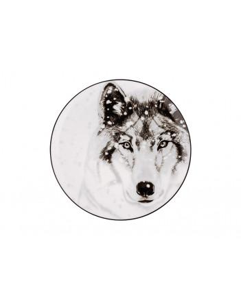 "LOMONOSOV IMPERIAL PORCELAIN DECORATIVE WALL PLATE TOTEM ANIMAL WOLF 23 CM 9.1"""