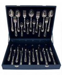 FLATWARE STAINLESS STEEL CUTLERY SET OF 48 IRISES WOODEN GIFT BOX