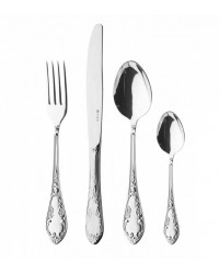 FLATWARE STAINLESS STEEL CUTLERY SET OF 48 TROIKA WOODEN GIFT BOX