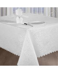 TABLECLOTH AND NAPKINS SET SHANTEL WHITE