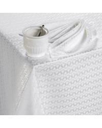 TABLECLOTH AND NAPKINS SET FIDEL WHITE