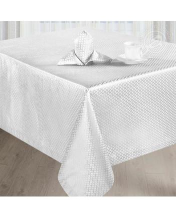 TABLECLOTH AND NAPKINS SET MELISSA WHITE