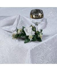 TABLECLOTH AND NAPKINS SET VERSAIIES WHITE