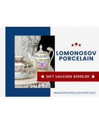 GIFT VAUCHER $1000.00 LOMONOSOV IMPERIAL PORCLELAIN FACTORY