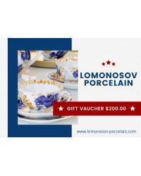 GIFT VAUCHER $200.00 LOMONOSOV IMPERIAL PORCLELAIN FACTORY