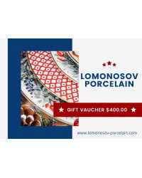 GIFT VAUCHER $400.00 LOMONOSOV IMPERIAL PORCLELAIN FACTORY